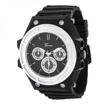 "Men""s Chronograph Sports Watch - Silver"