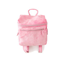 Leather Backpack in Pink, Everyday Fashion Bag, Laptop Bag Carrying Case for School or Work, Pretty Womens Leather Caryall Handbag