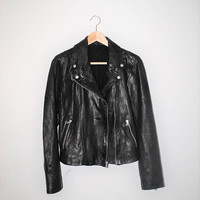 small leather moto jacket vintage classic black leather motorcycle jacket