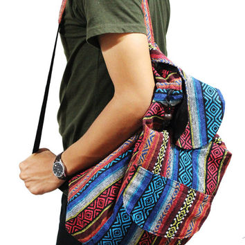 Multi-color Tribal Drawstring backpack School Laptop Backpack Ecocity Classic Vintage College Daycare Bag, Beach Bag, Hipster Bike Bag