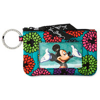 Disney Mickey's Magical Blooms Zip ID Case by Vera Bradley New with Tags