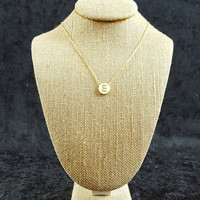 Initial Necklace - Silver or Gold Plated 16 inch