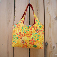 Bright Yellow Blooms  Mini Sac Craft Gathering Shopping Tote Bag
