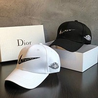 Dior x NIKE Women Fashion Casual Hat Cap