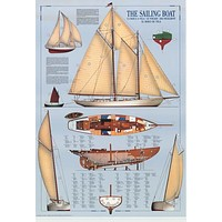 Sailboat Sailing Infographic Poster 27x40