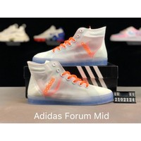 Adidas Forum Mid crystal bottom transparent gauze id:147