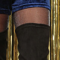 Glitter Knit Footed Tights
