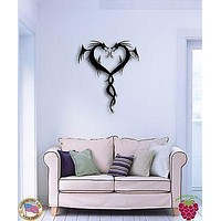 Wall Sticker Dragons Fantasy Cool Modern Decor for Living Room Unique Gift z1358