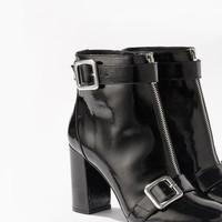 ALYSSA Patent Zip Ankle Boots | Miss Selfridge