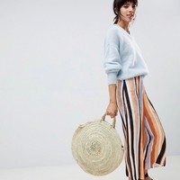ASOS DESIGN tailored soft jacquard stripe culottes at asos.com