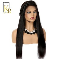 360 Lace Frontal Wig Remy Brazilian Long Straight Human Hair - Pre Plucked
