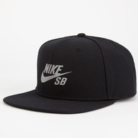 Nike Sb Reflective Icon Mens Snapback Hat Black One Size For Men 24423710001