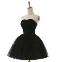 Black A Line Cocktail Dresses New Arrival Hot Sexy Flowing Knee Length Lace Cocktail Party Dress 2016