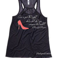 Marilyn Monroe Tank, Black Tank Top, Racer back Tank