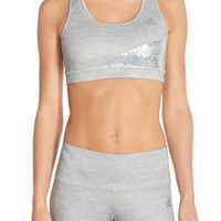 adidas 'Techfit - Sparkle Motion' Sports Bra | Nordstrom