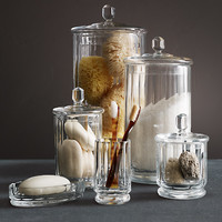Faceted Glass Bath Accessories