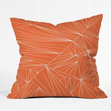 Vy La Tech It Out Orange Outdoor Throw Pillow