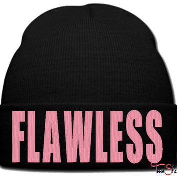 flawless  beanie knit hat