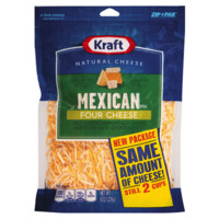 Kraft Finely Shredded Mexican Style Four Cheese, 8 oz
