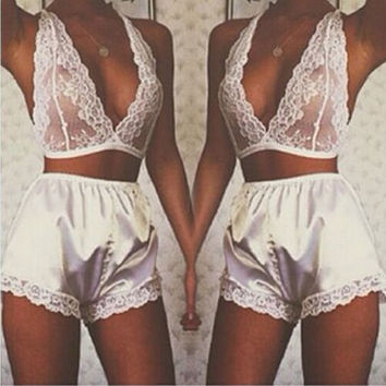 Hot Deal Cute On Sale Sexy Lingerie Lace Shorts Exotic Lingerie [11407013519]