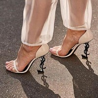 Yves Saint Laurent YSL new women's high heel sexy stiletto with high heel sandals Shoes 7#