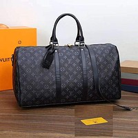 Louis Vuitton LV Luggage Bag Travel Bag Fashion Big Bag Print Tote Handbag-2