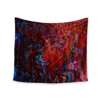 """Suzanne Carter """"Flow"""" Red Blue Wall Tapestry"""