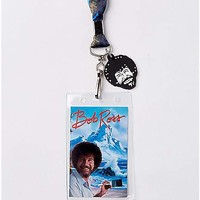 No Mistakes Just Happy Accidents Bob Ross Lanyard - Spencer's
