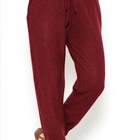 Set In Stone Joggers   Burgundy