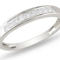 1/2 Carat Diamond 14K White Gold Anniversary Ring 7500698522