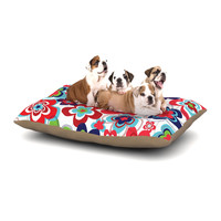 """Jolene Heckman """"A Cheerful Morning"""" Blue Red Dog Bed"""