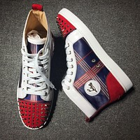 Cl Christian Louboutin Mid Style #2141 Sneakers Fashion Shoes