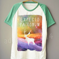 Harry Potter T-Shirt Galaxy Expecto Patronum T-Shirt Deer T-Shirt Short Sleeve Short Baseball Shirt Unisex T-Shirt Women T-Shirt Men T-Shirt
