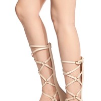 Cream Faux Leather Cross Strap Gladiator Sandals @ Cicihot Sandals Shoes online store sale:Sandals,Thong Sandals,Women's Sandals,Dress Sandals,Summer Shoes,Spring Shoes,Wooden Sandal,Ladies Sandals,Girls Sandals,Evening Dress Shoes