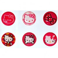 Hello Kitty Home Button Sticker for Iphone 4g/4s Ipad2 Ipod Ib046n + Free Screen Protector