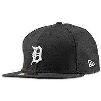 MLB Detroit Tigers Black with White 59FIFTY Fitted Cap