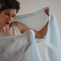 Blue Scarf Bridal wrap Lace Jane Austen scarf lace shawl Blue Wedding wrap Blue Bridal shawl Bridesmaids gift Pride&Prejudice JANE