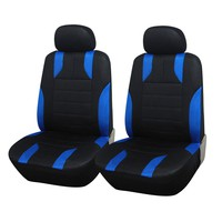Adeco 4-Piece Car Vehicle Protective Seat Covers, Universal Fit, Black/Blue Mesh