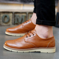 Mens Urban Brogue Style Casual Boots