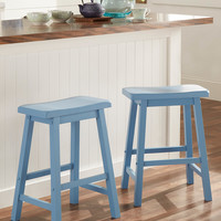 Blue Erickson Counter Height Saddle Stool - Set of Two