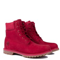 Timberland AF 6 Inch Premium Boots in Dark Red
