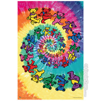 Grateful Dead - Spiral Bear Poster on Sale for $6.95 at The Hippie Shop