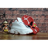 Kids Air Jordan 13 Retro White/red Sneaker Shoe Size Us 11c 3y