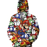 Mario on Shrooms Zip-Up Hoodie *Ready to Ship*