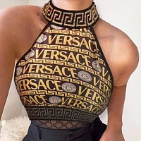 Versace Fashion Women Two Piece Top Tank Bikini underwear