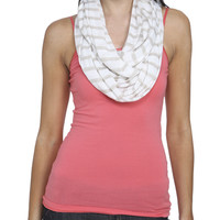 Jersey Stripe Eternity Scarf | Shop Accessories at Wet Seal