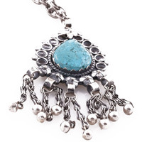 'Galena' Long Turquoise Necklace