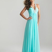 2013 Ruched Empire Waist Beaded Strap Prom Dress Ball Gown Party Evening Dresses