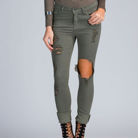 Shred-y To Rock Distressed Skinny Jeans