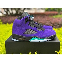"AIR JORDAN 5 RETRO ""ALTERNATE GRAPE"" high-top basketball shoes"
